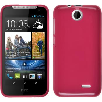 Silicone Case for HTC Desire 310 Candy hot pink