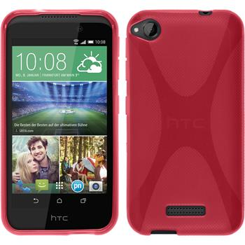 Silicone Case for HTC Desire 320 X-Style hot pink