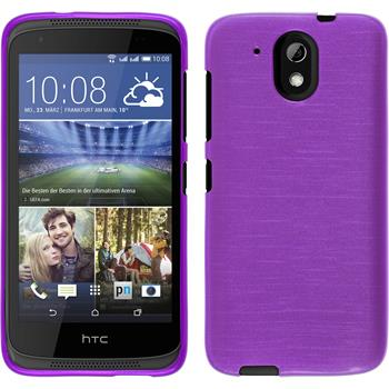 Silicone Case for HTC Desire 326G brushed purple
