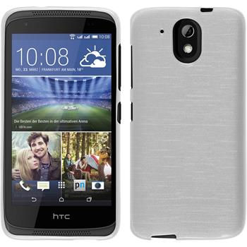 Silicone Case for HTC Desire 326G brushed white
