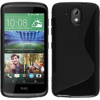 Silicone Case for HTC Desire 326G S-Style black