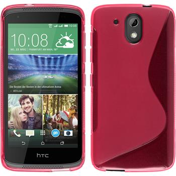 Silicone Case for HTC Desire 326G S-Style hot pink