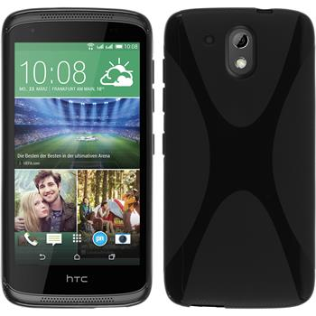 Silicone Case for HTC Desire 326G X-Style black