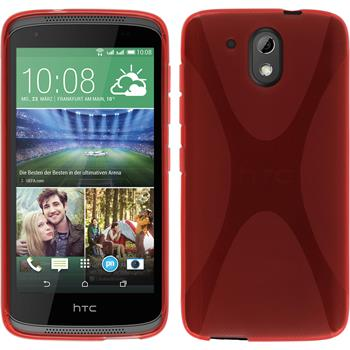 Silicone Case for HTC Desire 326G X-Style red