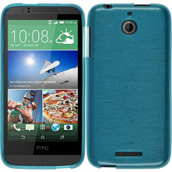 Silicone Case for HTC Desire 510 brushed blue