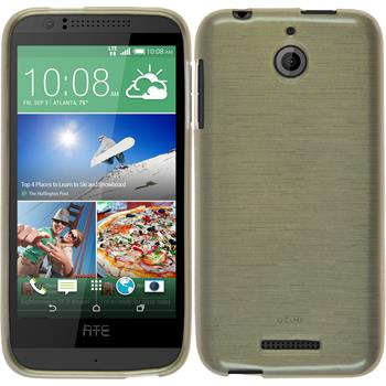Silicone Case for HTC Desire 510 brushed gold