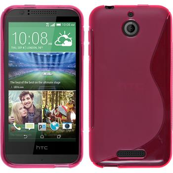 Silicone Case for HTC Desire 510 S-Style hot pink