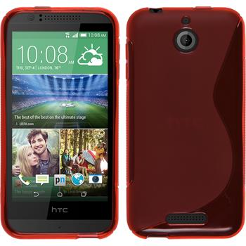 Silicone Case for HTC Desire 510 S-Style red