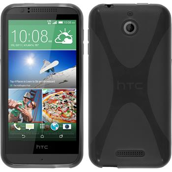 Silicone Case for HTC Desire 510 X-Style gray
