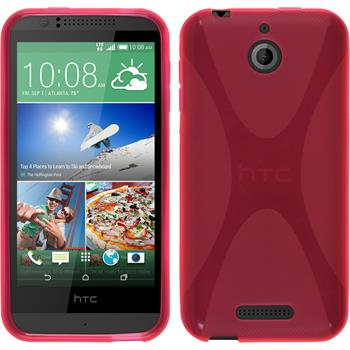 Silicone Case for HTC Desire 510 X-Style hot pink