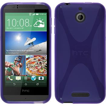 Silicone Case for HTC Desire 510 X-Style purple
