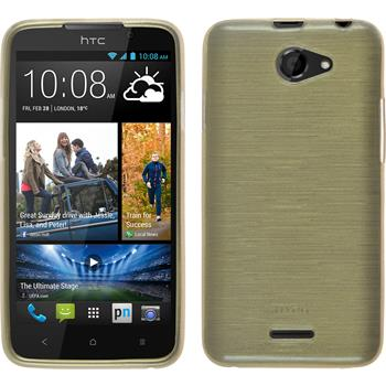 Silicone Case for HTC Desire 516 brushed gold