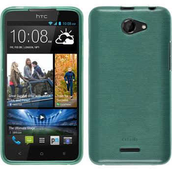 Silicone Case for HTC Desire 516 brushed green