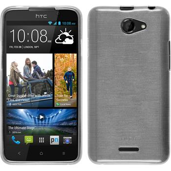Silicone Case for HTC Desire 516 brushed white