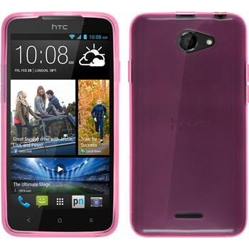 Silicone Case for HTC Desire 516 transparent pink