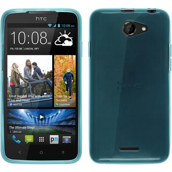 Silicone Case for HTC Desire 516 transparent turquoise
