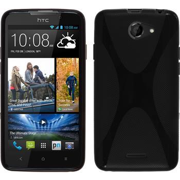 Silicone Case for HTC Desire 516 X-Style black