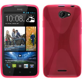 Silicone Case for HTC Desire 516 X-Style hot pink