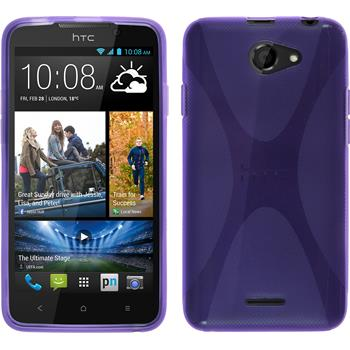 Silicone Case for HTC Desire 516 X-Style purple