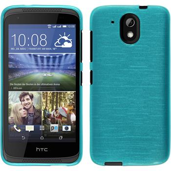 Silicone Case for HTC Desire 526G+ brushed blue