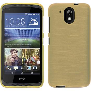 Silicone Case for HTC Desire 526G+ brushed gold