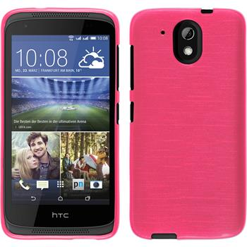 Silicone Case for HTC Desire 526G+ brushed hot pink