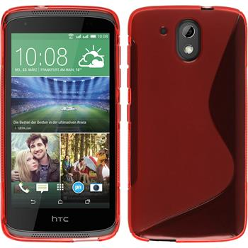 Silicone Case for HTC Desire 526G+ S-Style red