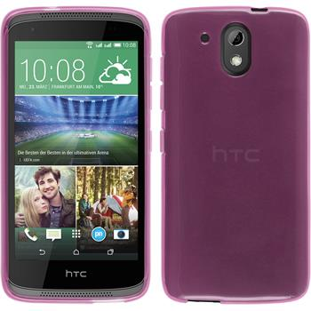 Silicone Case for HTC Desire 526G+ transparent pink