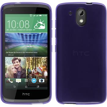 Silicone Case for HTC Desire 526G+ transparent purple