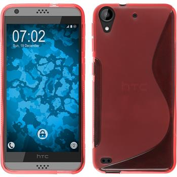 Silicone Case for HTC Desire 530 S-Style red