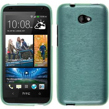 Silicone Case for HTC Desire 601 brushed green