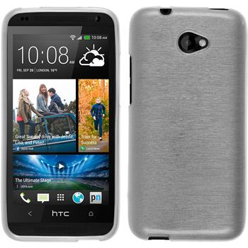 Silicone Case for HTC Desire 601 brushed white