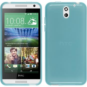 Silicone Case for HTC Desire 610 transparent turquoise