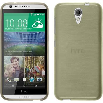 Silicone Case for HTC Desire 620 brushed gold