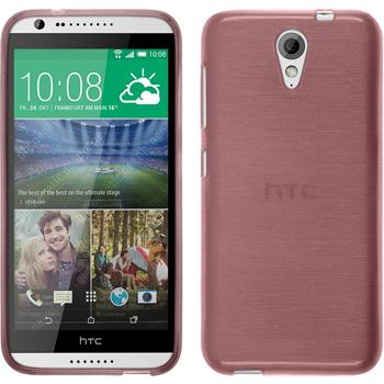 Silicone Case for HTC Desire 620 brushed pink