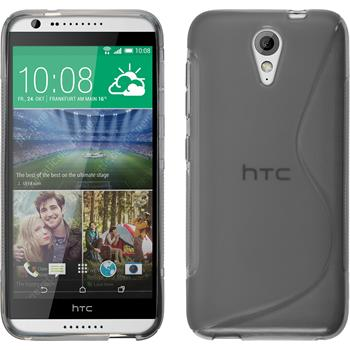 Silicone Case for HTC Desire 620 S-Style gray