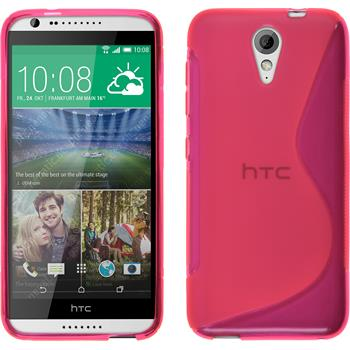Silicone Case for HTC Desire 620 S-Style hot pink