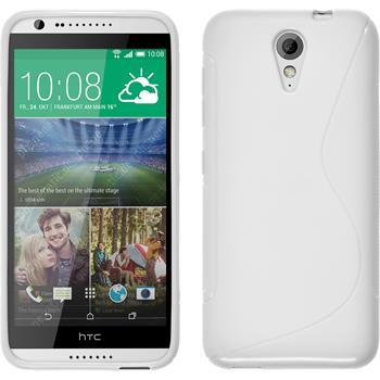 Silicone Case for HTC Desire 620 S-Style white
