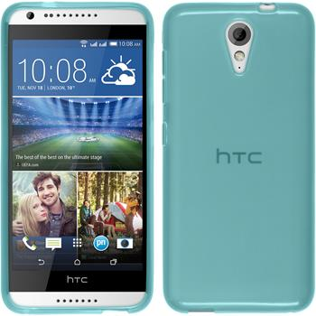 Silicone Case for HTC Desire 620 transparent turquoise
