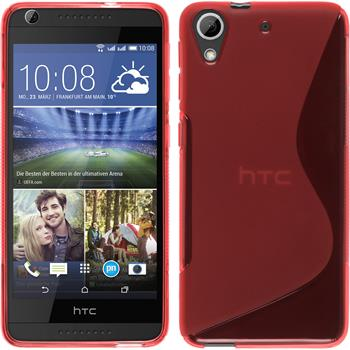 Silicone Case for HTC Desire 626 S-Style red