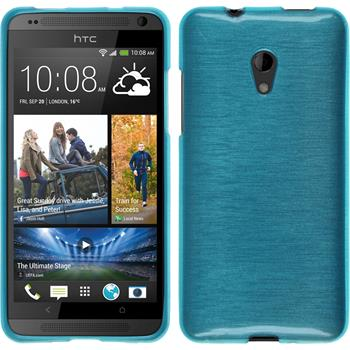 Silicone Case for HTC Desire 700 brushed blue