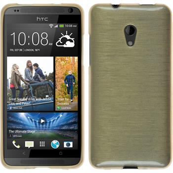 Silicone Case for HTC Desire 700 brushed gold