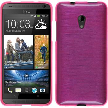Silicone Case for HTC Desire 700 brushed hot pink