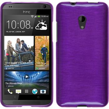 Silicone Case for HTC Desire 700 brushed purple