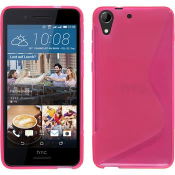 Silicone Case for HTC Desire 728 S-Style hot pink