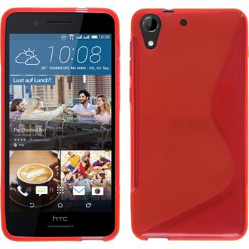 Silicone Case for HTC Desire 728 S-Style red