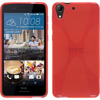 Silicone Case for HTC Desire 728 X-Style red
