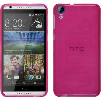 Silicone Case for HTC Desire 820 brushed hot pink