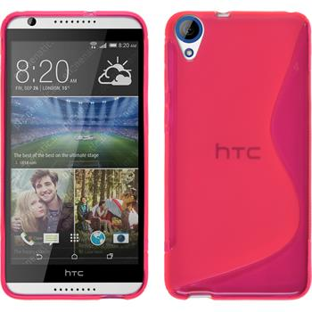 Silicone Case for HTC Desire 820 S-Style hot pink