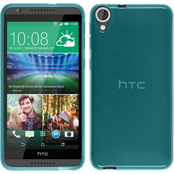 Silicone Case for HTC Desire 820 transparent turquoise